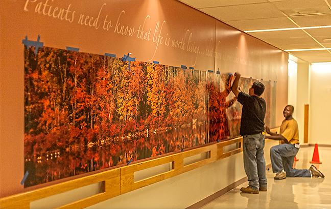 Helen Hayes Hospital Mural Installation.