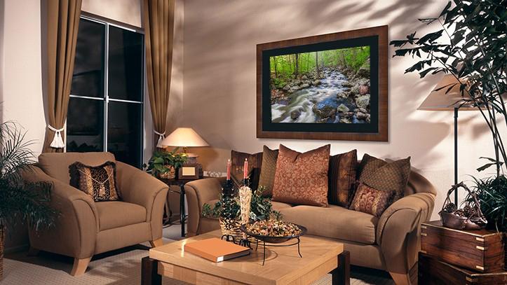 """""""Spring Flow"""" Lightjet Photo framed in black linen and hardwood"""