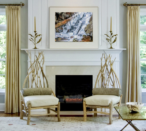 Icy Falls Fireplace