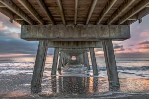 Tybee Sunrise Pier HDR