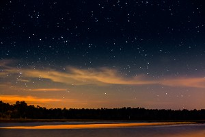 Sand Bar and Night Sky