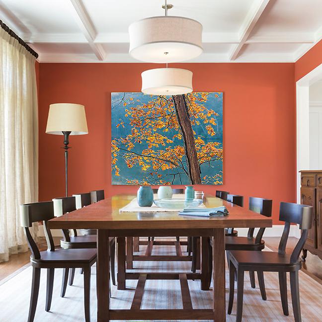 orange-dining-room